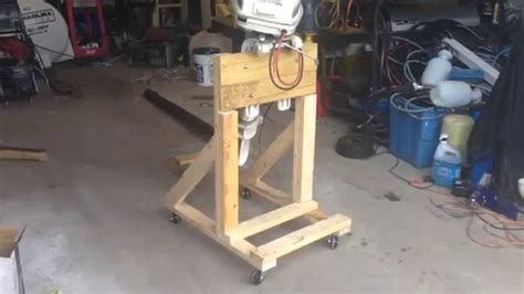 How To Make A Boat Motor Stand by How To Build A Boat Outboard Engine Stand Diy Cart