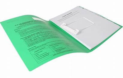 Medical Folders Folder Plastic Clear Solid Ambro