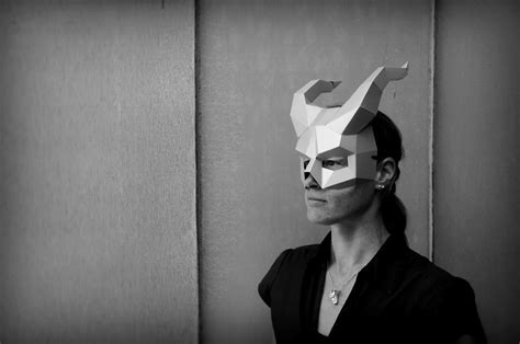 diy geometric paper masks  halloween bored panda