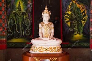 Statue Bouddha Interieur : statue de bouddha tha blanc l 39 int rieur du temple de tha lande photo 107865736 ~ Teatrodelosmanantiales.com Idées de Décoration