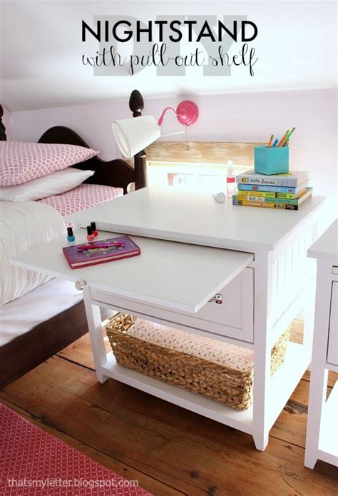 Nightstand Plans Free by Diy Nightstand With Pull Out Ledge Free Plans Jaime