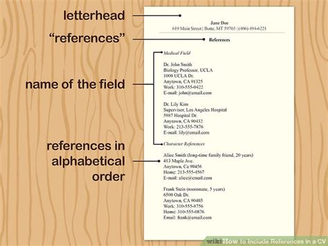 To Include References In Cv by 3 Simple Ways To Include References In A Cv Wikihow
