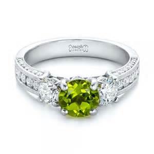 peridot wedding rings custom peridot and engagement ring 102118