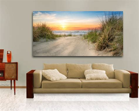 Large Ocean Beach Wall Decor Above The Couch Hanging Art