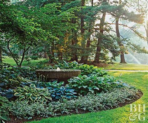 shade garden plans hosta filled shade garden better homes gardens
