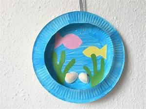 Blumen Bewässern Mit Wollfaden : aquarium aus pappteller basteln der familienblog f r ~ Lizthompson.info Haus und Dekorationen