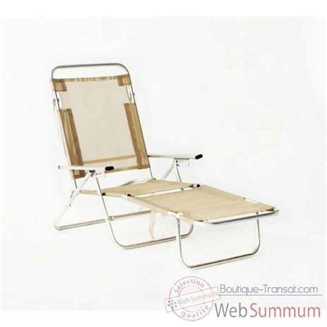 chaise longue pliable achat de beige sur boutique transat