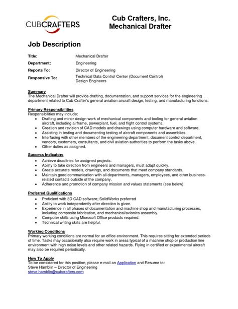 Certification Resume Sle by Lovely Mechanical Draftsman Resume Atclgrain