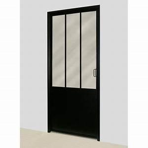 Porte Coulissante Atelier Castorama : bloc porte atelier noir 83cm castorama ~ Melissatoandfro.com Idées de Décoration