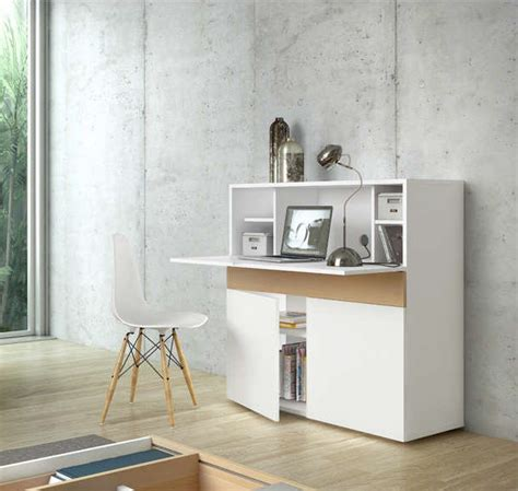 bureau secretaire pas cher bureau rétractable design blanc focus bureau achatdesign