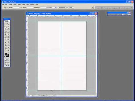 photoshop tutorial  creating   template   poster