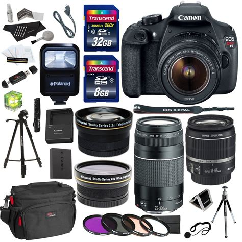 canon eos t5 dslr with 18 55 75 300 lens and 14 accessories 9126b069 ritzcamera