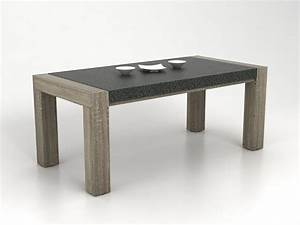table a manger opera mdf laque noir ou blanc table With table a manger effet beton