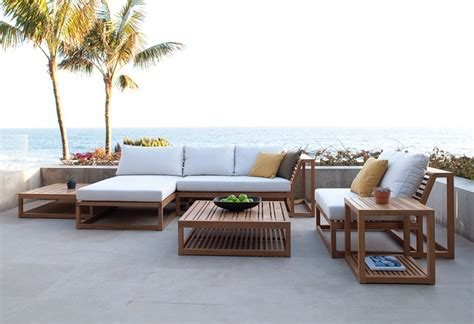 maya pc teak lounge set modern patio orange county