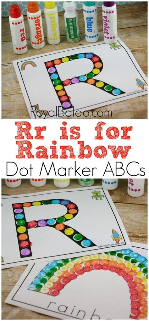 dot marker abcs printable letter rr alphabet