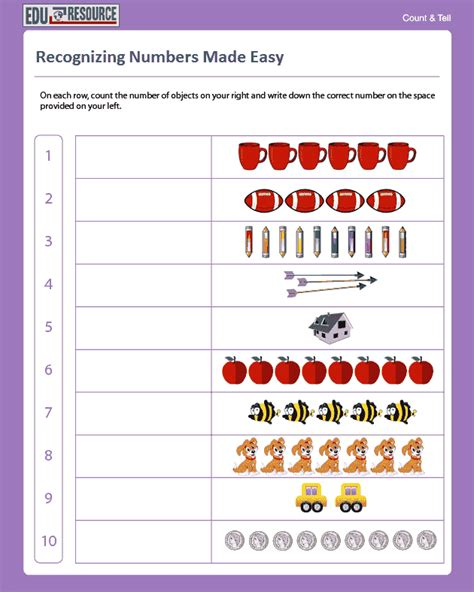 Free Kindergarten Number Recognition Worksheets  Number Recognition Worksheetsfree Preschool