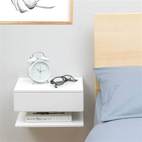 thin shelves ikea floating bedside table with drawer and shelf by urbansize