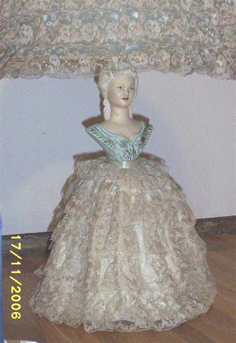 vintageblue lady southern bell lampceramiclace