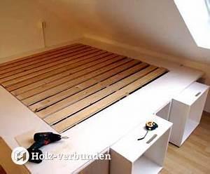 Bett Selbst Gebaut : die besten 25 bett selber bauen ideen auf pinterest bett selber bauen ideen bett bauen und ~ Eleganceandgraceweddings.com Haus und Dekorationen