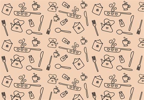 kitchen pattern vector   vector art