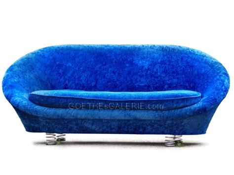 Bretz Sofa Gebraucht by Bretz Pool Sofa Samtstoff Blau Gebraucht Wie Neu