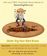 Idiom: Dig your own grave (meaning & examples)