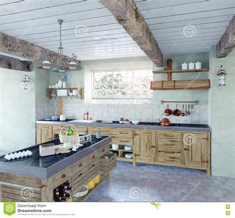 cuisine à l ancienne cuisine à l 39 ancienne illustration stock image du