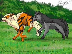 Arcanine and Mightyena by shadow-of-insanity on DeviantArt
