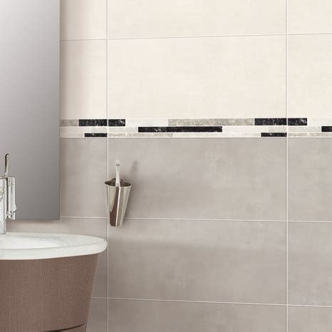 fa 239 ence murale gris aspect pour salle de bain 20x40 cm brico d 233 p 244 t