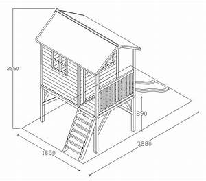 Plan De Cabane En Bois : cabane de jardin en bois sur pilotis fanny x ~ Melissatoandfro.com Idées de Décoration