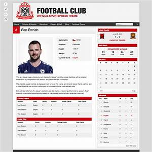 football club soccer team wordpress theme themeboy With soccer player profile template