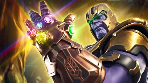 fortnite thanos gameplay infinity gauntlet victory