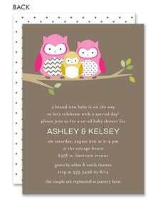 owl family  moms baby shower  noteworthy collections