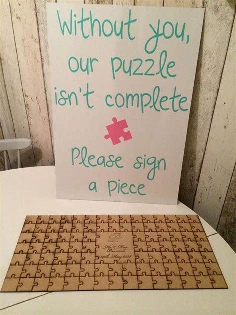 Best 25 Puzzle Guest Books Ideas On Pinterest