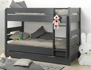 Lit Bébé Gain De Place : le lit enfant superpos avec son tiroir de lit un gain de place assur ~ Melissatoandfro.com Idées de Décoration