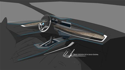 Bmw X6 Interior Design Sketch