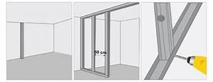 Poser Bloc Porte Entre 2 Murs : monter une cloison en plaques de pl tre mur ~ Dailycaller-alerts.com Idées de Décoration