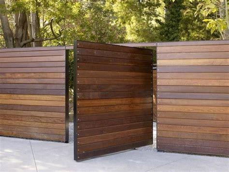 amazing modern wood fence design ideas