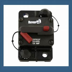High Amp Circuit Breaker With Manual Reset 60 Amp  Cb60pb