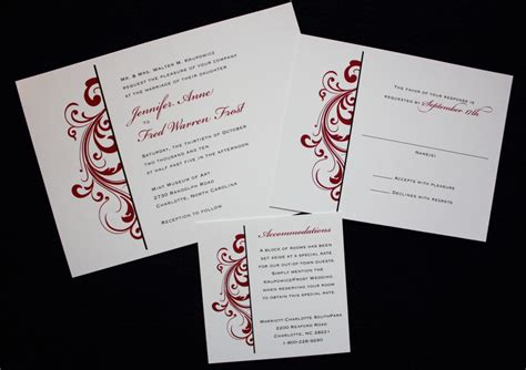 Black And White Wedding Invitations Cheap