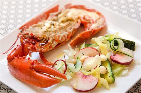 cuisiner un homard congelé homard et salade aux pêches cuisine à l 39 ouest