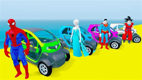 Fun Learn Colors Mini Zb Cars Jump W Superheroes Cars