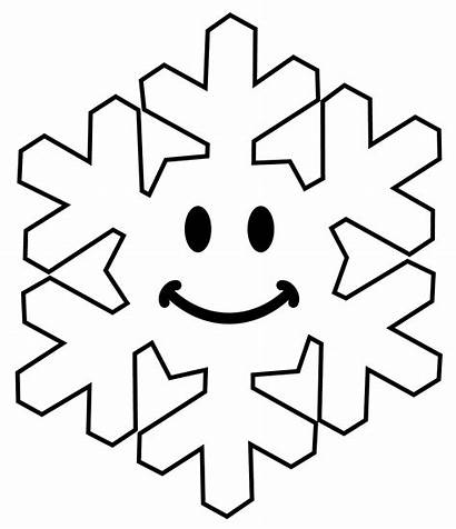 Snowflake Smiley Face Clipart Happy Line Place