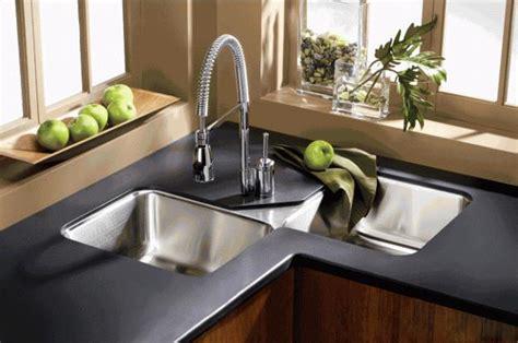 modern kitchens  space saving  ergonomic corner sinks