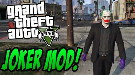 gtav joker mod joker playable character   play