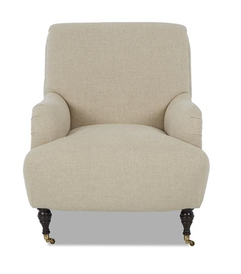 klaussner cameron traditional accent chair with rolled