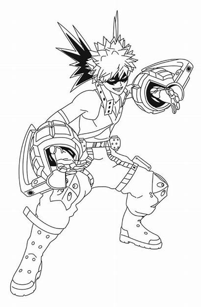 Coloring Pages Mha Academia Hero Popular