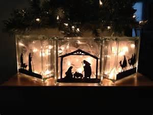 Christmas Glass Block Nativity
