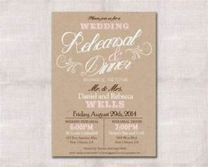 wedding rehearsal dinner invitation custom printable 5x7 With when to send wedding rehearsal invitations
