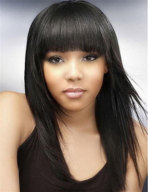 Black Hairstyles Bangs by Black Hairstyles With Bangs